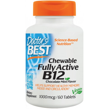 Chewable Fully Active B12, 1000mcg - 60 tabs