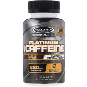 Platinum 100% Caffeine, 220 mg - 125 tablets