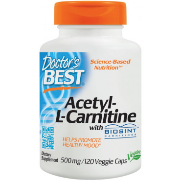 Acetyl L-Carnitine with Biosint Carnitines, 500mg  - 120 vcaps
