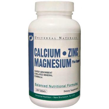 Calcium, Zinc and Magnesium - 100 tabs