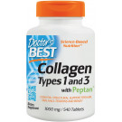 Collagen Types 1 & 3 with Peptan, 1000mg - 540 tabs