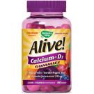 Alive! Calcium Gummies Plus Vitamin D3 - 60 Gummies