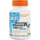 Natural Vitamin K2 MK7 with MenaQ7, 45mcg - 60 vcaps