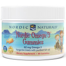 Nordic Omega-3 Gummies, 82mg Tangerine Treats - 60 gummies