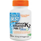 Natural Vitamin K2 MK7 with MenaQ7, 45mcg - 60 vcaps