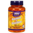 Arginine & Ornithine, 500/250 - 100 caps
