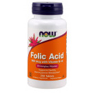 Folic Acid with Vitamin B12, 800mcg - 250 tabs
