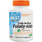 Fully Active Folate 400 with Quatrefolic, 400mcg - 90 vcaps