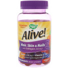 Alive! Hair, Skin & Nails with Collagen - 60 gummies