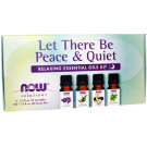 Essential Oil, Let There Be Peace & Quiet Oil Kit - 4 x 10 ml.