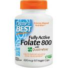 Fully Active Folate 800 with Quatrefolic, 800mcg - 60 vcaps
