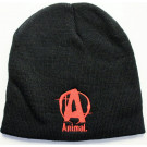 """Animal Skull Cap Red """"A"""", Black"""