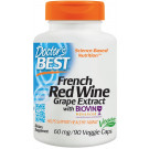 French Red Wine Grape Extract with Biovin, 60mg - 90 vcaps