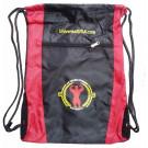 Universal Drawstring Bag, Black & Red