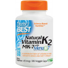 Natural Vitamin K2 MK7 with MenaQ7, 45mcg - 180 vcaps