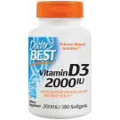 Vitamin D3, 2000 IU - 180 softgels