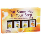 Essential Oils, Put Some Pep in Your Step Oil Kit - 4 x 10 ml.