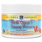 Nordic Omega-3 Gummy Worms, 63mg Strawberry - 30 gummy worms