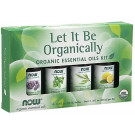 Essential Oil, Let It Be Organically Organic Oil Kit - 4 x 10 ml.
